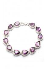 Браслет с фиолетовыми камнями