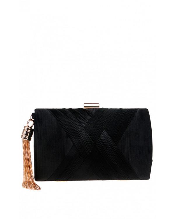 bf51b7ea7117 Элегантный черный клатч купить в интернет-магазине Роял-бутик ...