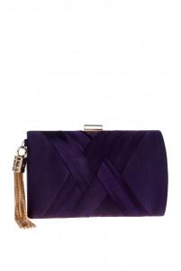 Элегантный фиолетовый клатч
