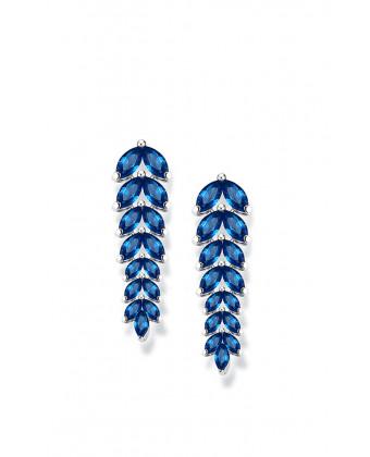 Нежные серьги подвески синие