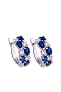 Серьги с камнями синие