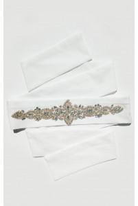 Свадебный пояс айвори