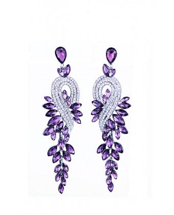 Вечерние фиолетовые серьги