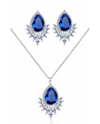 Вечерний набор украшений синий