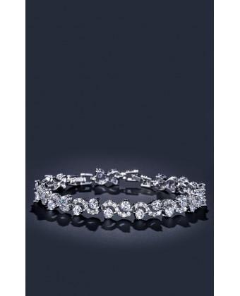 Браслет бесконечность в серебре