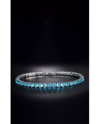 Тоненький браслет на руку голубой