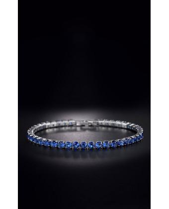 Тоненький браслет на руку синий