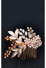 Гребень для волос с цветами