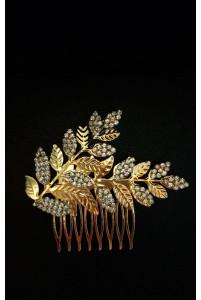 Гребень для волос с золотыми веточками