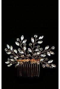 Гребень с кристаллами золотой