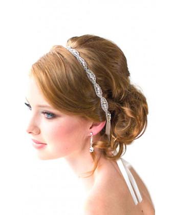 Греческая повязка для волос с бисером