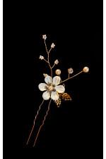 Шпилька с цветком айвори