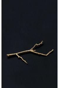 Шпилька в волосы золотая веточка