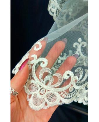 Фата с вышивкой орнаментом