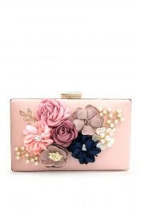 Пудровый клатч с 3d цветами