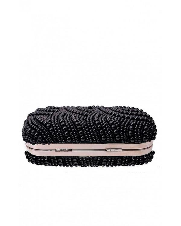 1e4a5887d7cc Вечерний черный клатч в бусинах купить в интернет-магазине Роял ...