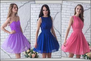 Фасоны коротких выпускных платьев