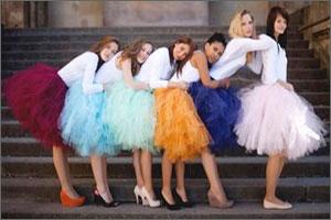 Пышные юбки миди, с чем носить