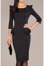 Деловое черное платье