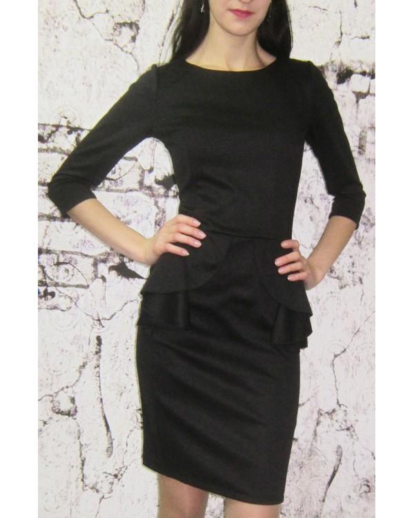 978c9d4af36ddd0 Классическое черное платье купить в интернет-магазине Роял-бутик ...