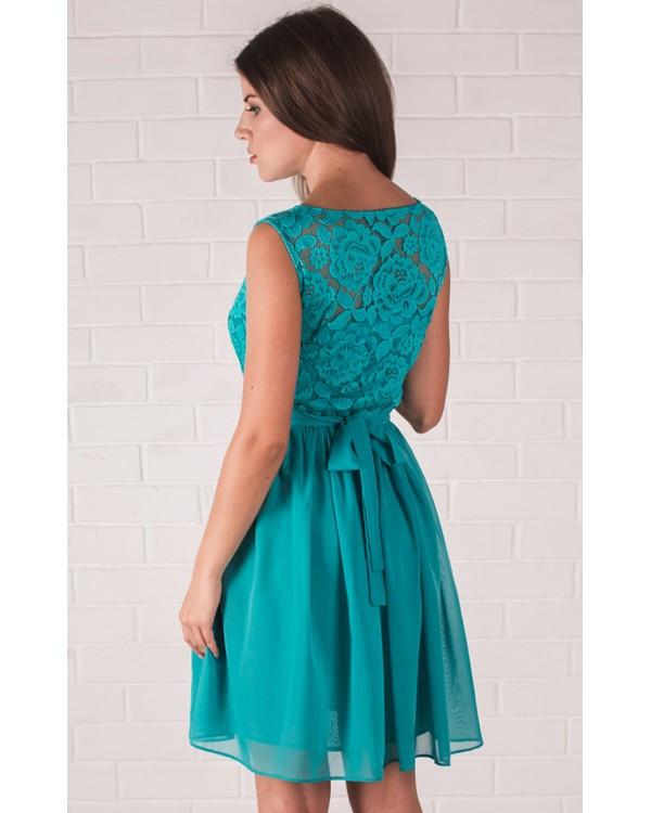 Купить вечернее платье бирюзовое платье