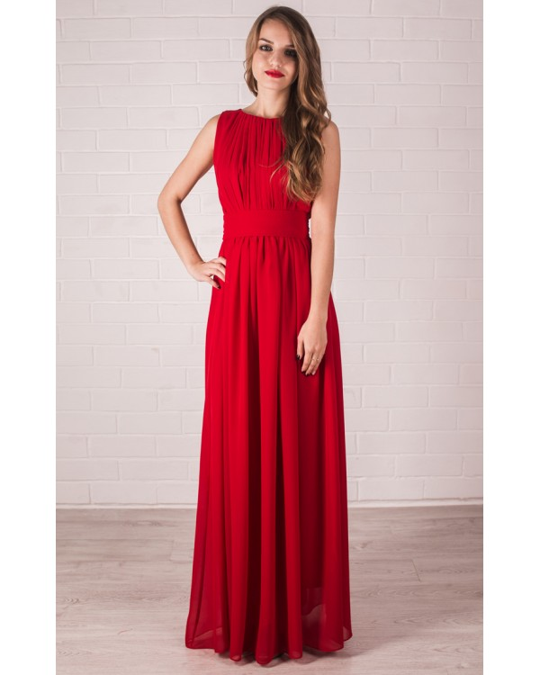 фото платье в пол красное