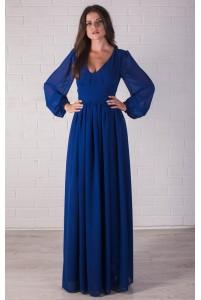 Длинное платье с рукавом из шифона