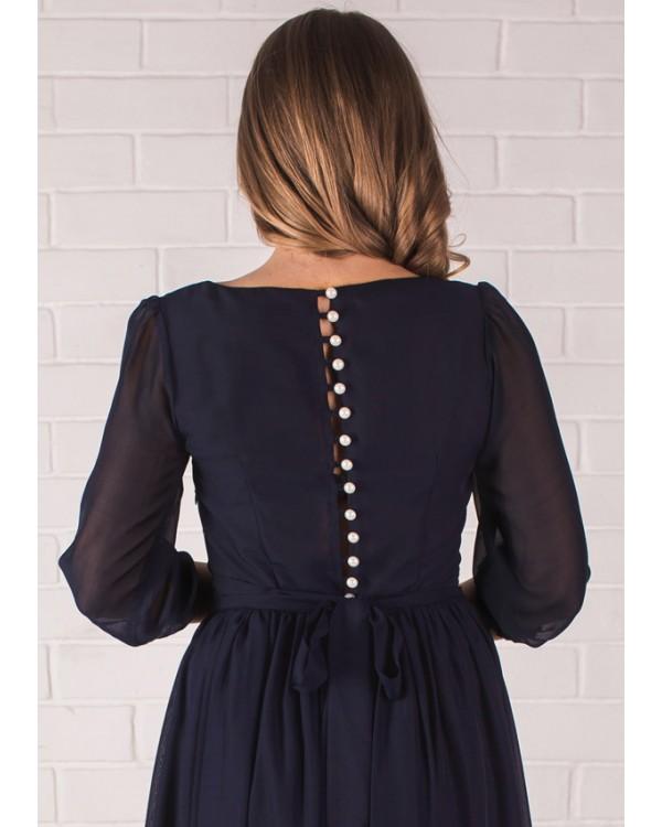 Фото платья синего цвета доставка