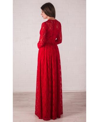 Гипюровое платье с длинным рукавом