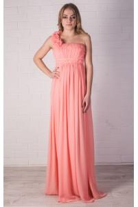 Греческое платье с косичкой
