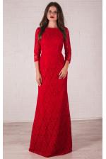 Вечернее платье красного цвета русалка