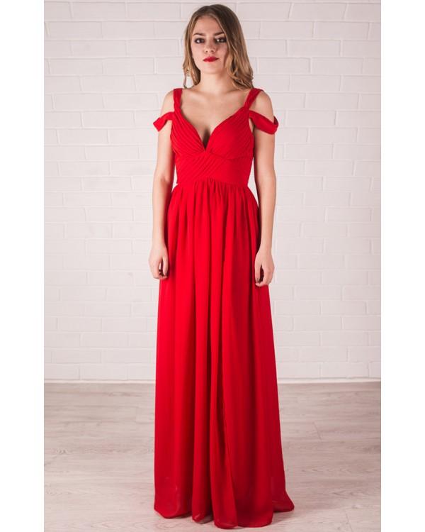 82499aac7cd Красное платье с глубоким декольте купить в интернет-магазине Роял ...
