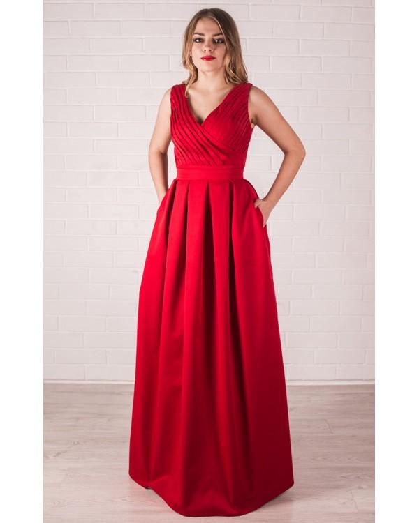 0ff0a933fc7 Красное вечернее платье в пол купить в интернет-магазине Роял-бутик ...