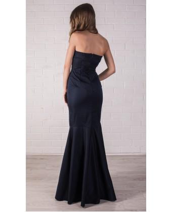 Платье русалка темно синее