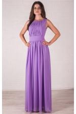 Сиреневое платье в греческом стиле