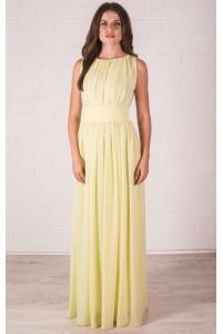 Лимонное платье в пол