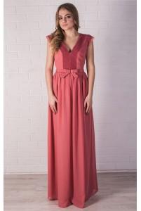 Вечернее лососевое платье