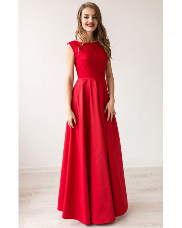 2ff908a37ba Изысканное красное вечернее платье купить в интернет-магазине Роял ...
