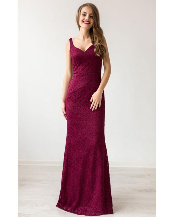 8388a00551a Красивое вечернее платье марсала купить в интернет-магазине Роял ...