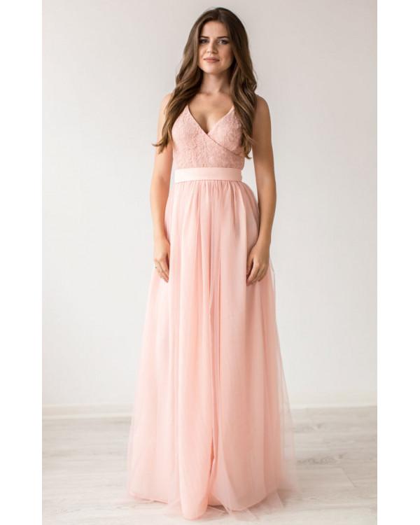 03c8cff6d193 Нежно розовое вечернее платье купить в интернет-магазине Роял-бутик ...