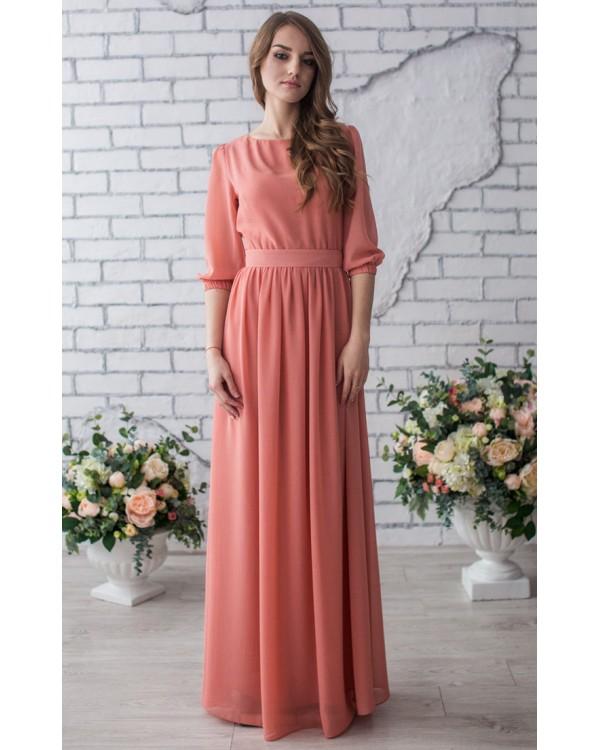 23f281c42b7 Платье с шифоновыми рукавами купить в интернет-магазине Роял-бутик ...