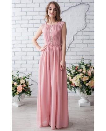 Шифоновое вечернее платье в пол
