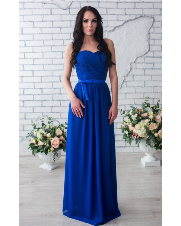 Купить Синее Вечернее Платье