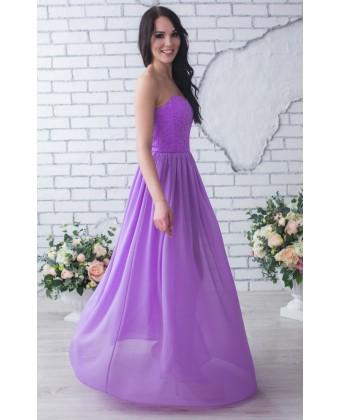 Сиреневое вечернее платье