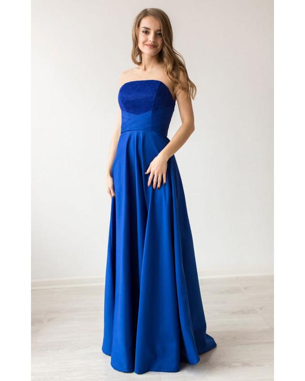 3fb9f62e17e909c Вечернее платье цвета электрик купить в интернет-магазине Роял-бутик ...