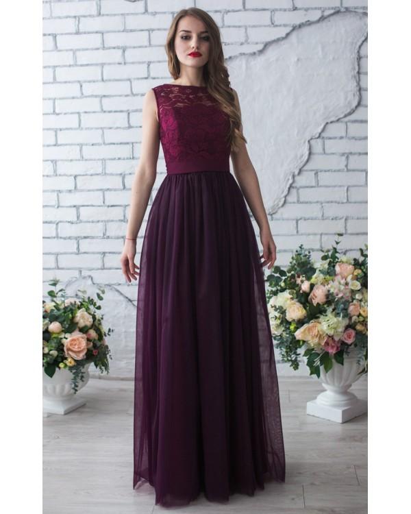 Цвет марсала платье в пол