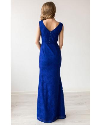 Вечернее платье электрик