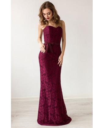 Вечернее платье марсала
