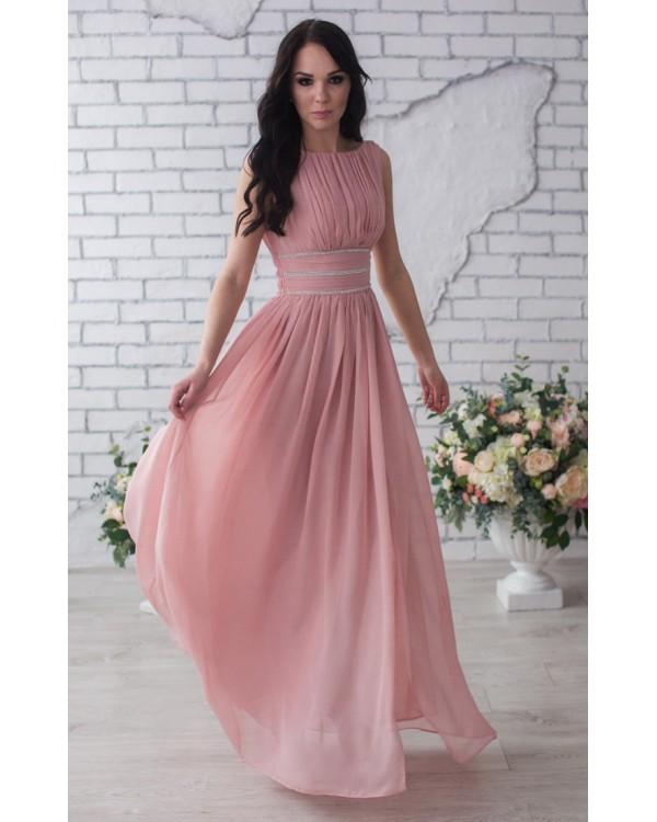 29741dd2698 Вечернее платье розовый кварц купить в интернет-магазине Роял-бутик ...