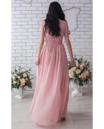 Вечернее платье розовый кварц